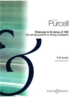 Henry Purcell: Chacony In G Minor Z730 Books | String Orchestra or String Quartet