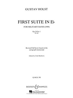 Gustav Holst: Suite 1 In E Flat Op.28 No.1 (Revised) Books | Marching Band