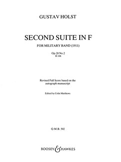 Gustav Holst: Suite No.2 In F Op.28 No.2 (Revised) Books | Marching Band