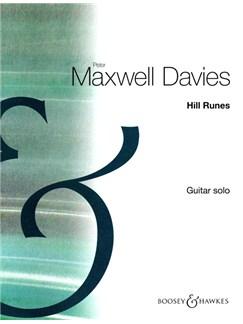 Peter Maxwell Davies: Hill Runes - Guitar Solo Books | Guitar