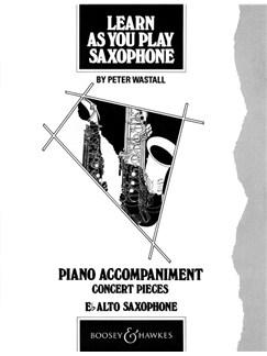 Learn As You Play Alto Saxophone (Piano Accompaniment) Books | Piano Accompaniment
