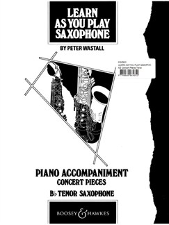Learn As You Play Tenor Saxophone (Piano Accompaniments) Books | Piano Accompaniment