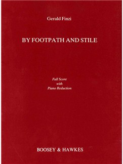 Gerald Finzi: By Footpath And Stile (Full Score) Books | Voice, String Quartet (Piano Accompaniment for rehearsal only)