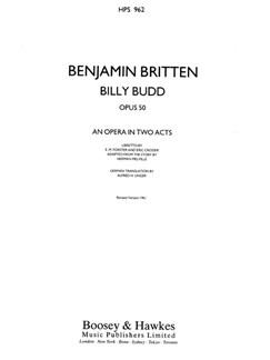 Benjamin Britten: Billy Budd Op.50 (Study Score) Books | Opera