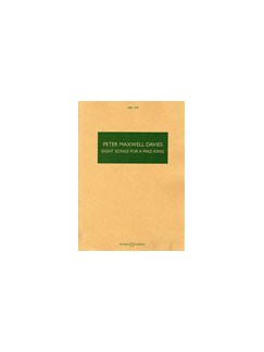 Peter Maxwell Davies: Eight Songs For A Mad King (Male Voice/Piano) Books | Voice, Piano Accompaniment