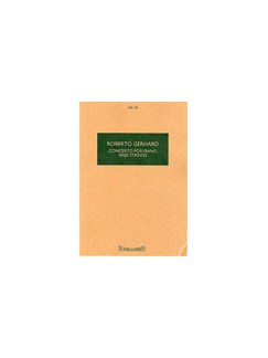 Roberto Gerhard: Concerto for Piano And Strings (Study Score) Books | Piano, String Instruments