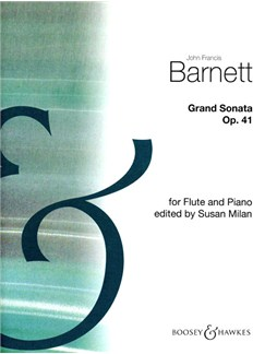 John Francis Barnett: Grand Sonata For Flute And Piano Op.41 Books | Flute, Piano Accompaniment