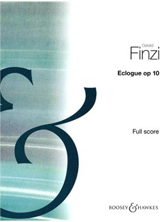 Gerald Finzi: Eclogue Op. 10 (Full Score) Books | Piano, String Orchestra