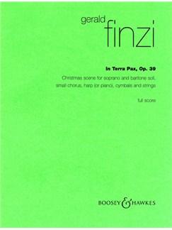 Gerald Finzi: In Terra Pax Op.39 (Full Score) Books | Soprano, Baritone Voice, SATB, Harp or Piano Chamber, Percussion, String Instruments