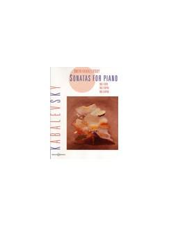 Dmitri Kabalevsky: Piano Sonatas Op.6/Op.45/Op.46 Books | Piano