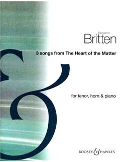 3 Songs Fr Heart Of The Matter Books | Horn, Tenor, Piano Accompaniment