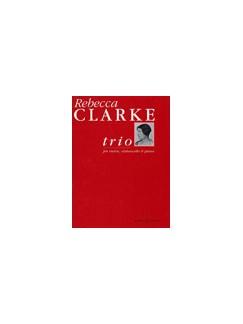 Clarke: Trio Books | Cello, Violin, Piano Accompaniment