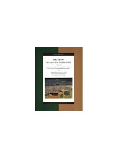 Benjamin Britten: Orchestral Anthology Volume 1 Books   Orchestra
