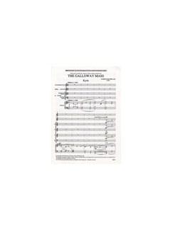 James MacMillan: The Galloway Mass (Vocal Score) Books | SATB, Organ Accompaniment