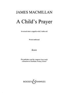 James Macmillan: A Child's Prayer Books | SATB
