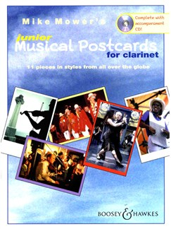 Mike MowerL Junior Musical Postcards (Clarinet) Books and CDs | Clarinet