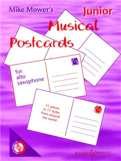 Mike Mower: Junior Musical Postcards (Alto Saxophone) Books and CDs | Alto Saxophone