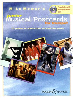 Mike Mower: Junior Musical Postcards (Trumpet) Books and CDs | Trumpet