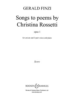 Gerald Finzi: Songs To Poems By Rossetti Books | 2-Part Choir, Piano Accompaniment