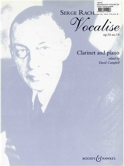 Serge Rachmaninoff: Vocalise Op. 34 No. 14 Books | Clarinet, Piano Accompaniment