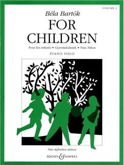 Bela Bartok: For Children Volume Two Books | Piano