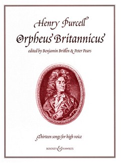 Henry Purcell: Orpheus Britannicus Books | High Voice, Piano Accompaniment