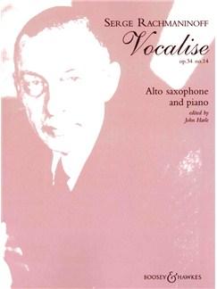 Sergei Rachmaninov: Vocalise Op.34 No.14 (Alto Saxophone and Piano) Books | Alto Saxophone, Piano Accompaniment