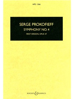 Serge Prokofieff: Symphony No.4 - First Version Op.47 (Study Score) Books | Orchestra