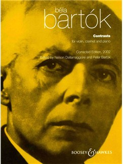 Bela Bartok: Contrasts Books | Clarinet, Violin, Piano Accompaniment
