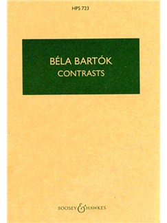 Bela Bartok: Contrasts (Corrected Edition) (Boosey & Hawkes) Books | Violin, Clarinet, Piano Accompaniment