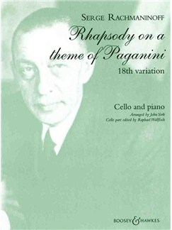 18th Paganini Variation Books | Cello, Piano Accompaniment