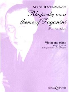 Sergei Rachmaninov: 18th Variation - Rhapsody On A Theme Of Paganini (Violin/Piano) Books | Violin, Piano Accompaniment