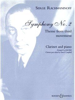 Serge Rachmaninoff: Symphony No.2 Theme from third movement Books | Clarinet, Piano Accompaniment