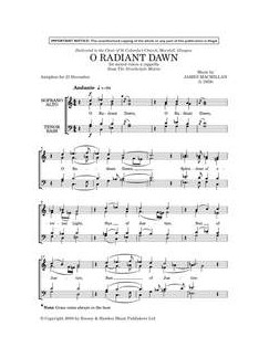 James MacMillan: O Radiant Dawn (The Strathclyde Motets) Bog | SATB, Kor