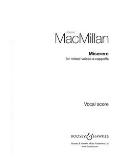James MacMillan: Miserere Books | SSAATTBB, Choral