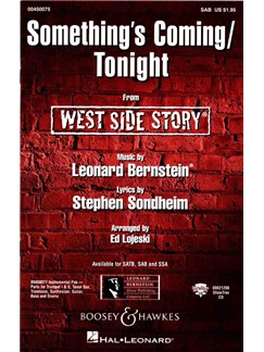 Leonard Bernstein: Something's Coming/Tonight (West Side Story) - SAB Books | SAB, Piano Accompaniment