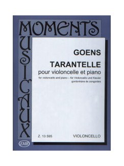 Daniel Van Goens: Tarantelle Op.24 Books | Cello, Piano Accompaniment