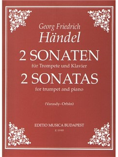 G. F. Handel: Two Sonatas (Trans. Varasdy And Orbán) Books | Trumpet, Piano Accompaniment