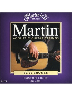 Martin: M175 Acoustic Guitar Strings - Custom Light (.011-.052)  | Acoustic Guitar
