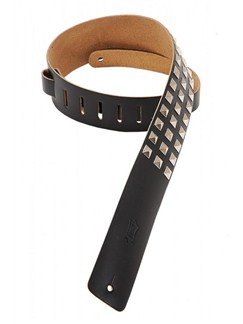 Levy's: M1SD Leather/Metal Stud Guitar Strap - Black  | Guitar