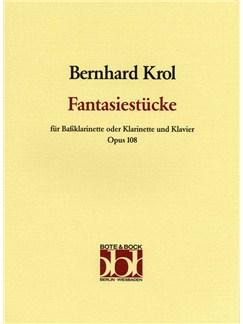 Bernhard Krol: Fantasiestücke Op. 108 Books | Bass Clarinet, Piano