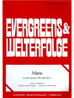 Leonard Bernstein: Maria - West Side Story Books | Voice, Piano
