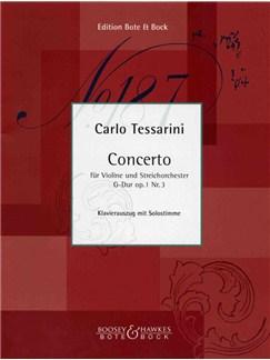 Carlo Tessarini: Violin Concerto In G No.3 (Violin/Piano) Books   Violin, Piano Accompaniment
