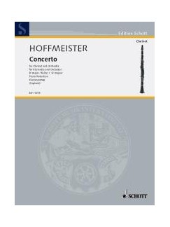 Franz Anton Hoffmeister: Concerto In B Flat - Clarinet/Piano Books | Clarinet, Piano Accompaniment