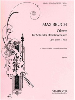 Max Bruch: String Octet Op posth (Score) Books |