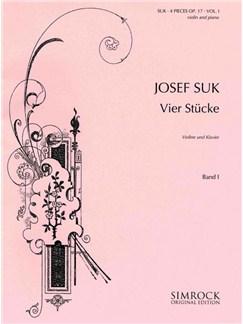 Josef Suk: 4 Pieces Op.17 Book 1 (Violin/Piano) Books | Violin, Piano Accompaniment