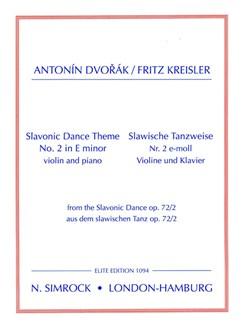 Slavonic Dance Theme 2 Books | Violin, Piano Accompaniment