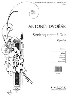 Antonin Dvorak: String Quartet In F Op.96 Books | String Quartet