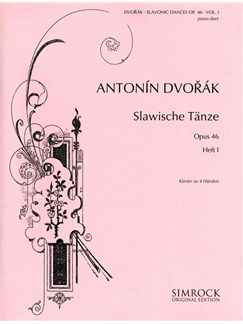 Antonin Dvorak: Slavonic Dances Op.46 Book One Books | Piano Duet