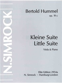 Bertold Hummel: Kleine Suite For Viola And Piano Op.19c Books | Viola, Piano Accompaniment